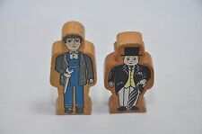 Vintage Thomas Wood Figures from 1990s :  Sir Topham Hatt and Workman - 1996