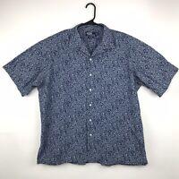 Polo Ralph Lauren Caldwell Shirt Men's Size XL Blue Flowers Floral Short Sleeves