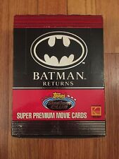 💥1992 Stadium Club Batman Returns Trading Card Box 36 Packs, 15 Cards/ Pack!💥