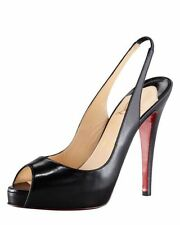 Christian Louboutin Peep Toes 100% Leather Heels for Women