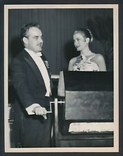 """1956 Grace Kelly, """"Princess to Be"""" Early Photo with Prince Rainier by Frank Jurk"""