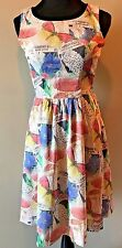 Bea & Dot by Modcloth Multi-color Butterfly Print Sleeveless Dress size XS DS12