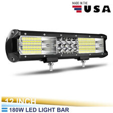 "Tri-Row 12inch 180W straight LED Light Bar Spot Flood combo beam Offroad 11"" ty9"