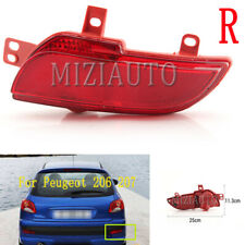 For Peugeot 206 207 Rear Bumper Reflector Light Tail Fog Lamp Right Side No Bulb