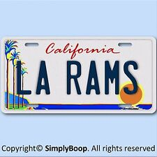 Los Angeles California LA RAMS NFL Football Team Aluminum Vanity License Plate