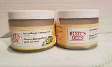 Burt's Bees Lot of 2 Eye Makeup Remover Pads with Kiwi Extract New NIP