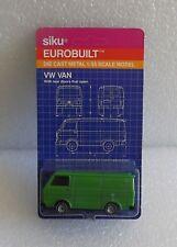 MOC 80s SIKU EUROBUILT DIE-CAST 1/55 VW GREEN VAN ~OLD STORE STOCK No. 1334