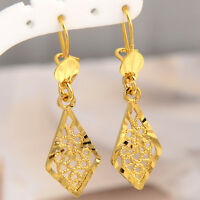 Luxury classic 14K Yellow Gold Filled Drop Dangle Girl Women Earring  for Party