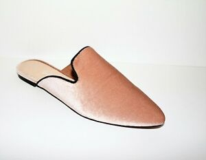 Sportsgirl Brand Blush Rosie Backless Slip On Flats Mules Size 37 NEW