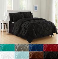 8-Piece Comforter Set Luxurious™ Pintuck Design Bed-in-a-Bag W/ Smart Sheet Set
