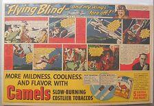 Camel Cigarette Ad: Paul Collins Air Mail Plane Pilot Half or Tabloid Page