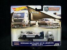 Hot Wheels Car Culture Team Transport Nissan Skyline GT-R & Aero Lift Truck.