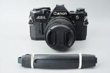 Canon AE-1 AE1 35mm SLR Film Camera, Black w/ Canon FD 100mm f2.8 S.S.C. Lens