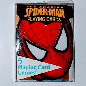The Amazing Spider-man Die-Cut Playing Cards Marvel complete 54 vintage 2006