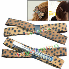 Korean Fashion Accessory Jewelry Leopard Bow  Hair Accessories Hairpin