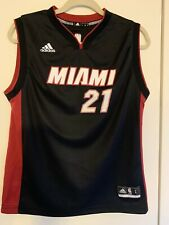 Miami Heat Hassan Whiteside 21 Youth L Replica Black Swingman Jersey Adidas 2014