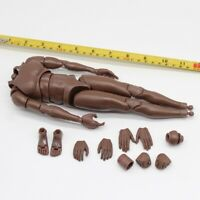 """1/6th Black man body model For 12"""" Male action Figure"""