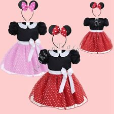 Toddler Kids Girls Mickey Minnie Mouse Party Princess Dress Skirts Summer Outfit