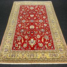 Orient Teppich Ghom 204 x 132 cm Perserteppich Seide Rot Gold Silk Carpet Rug