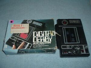 Digital Derby Auto Raceway Handheld Game 1978 Box Parts Or Repair Not Working