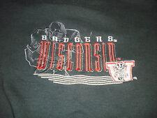 Vintage Wisconsin Badgers football Logo 7 crewneck sweatshirt size XL