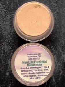 Mineral makeup~20 gm~ Green Tea Medium ~Foundation Loose powder Sweetscents