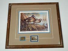 """Spring Courtship"" John C Green PRINT & 1990 SOUTH DAKOTA STAMPS Ducks Unlimited"
