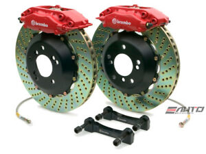 Brembo Rear GT BBK Brake 4pot Red 328x28 Drill Disc for Benz W204 C204 C207 A207