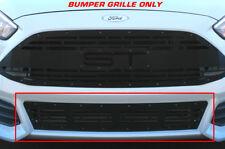 Custom Aftermarket Steel Bumper Grille Kit for 2015-18 Ford Focus ST Black Part