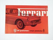 Original Ferrari 250 PF Coupe Sales Brochure Pamphlet Handbook