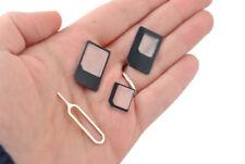 4 in 1 SIM Karte Adapter Set Nadel IPhone Samsung Sony LG Motorolla Neu #1589
