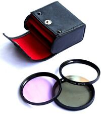 3PC HD Filter (UV/Polarizer/Fluorescent) Panasonic Leica 14-50mm Vario 100-300mm