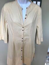"Ladies yellow  tunic sSP 29""L, Puma Brand 100% cotton, oriental flare"