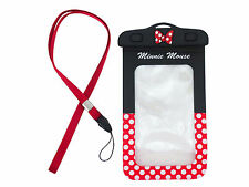 New Minnie Mouse WaterprooF Camera Pouch - Universial Cell Phone Case Dry Bag #1