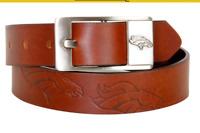 Denver Broncos NFL Brandish Leather Belt - Brown Brand New- FREE SHIPPING!!!