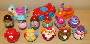 Lot of 11 Playskool Weebles & 3 Vehicles