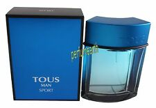 TOUS MAN SPORT 3.3 / 3.4 OZ EDT SPRAY BY TOUS & NEW IN BOX