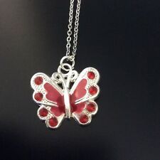 Handmade children's butterfly necklac with  free gift bag  16inch chain