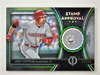 2020 Tribute Stamp of Approval Relic Green SOA-JV Joey Votto /99 Cincinnati Reds