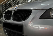 HIGH GLOSS BLACK BMW E60/E61 5-Series 4Dr FRONT GRILLS GRILLE KIDNEY 520d 535i
