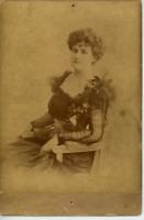 Reutlinger, actrice vintage albumen print, carte cabinet Tirage albuminé  10