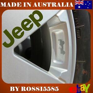 GREY Jeep Wrangler Wheel Decals - Vinyl Stickers Overlays Cherokee Gladiator x6