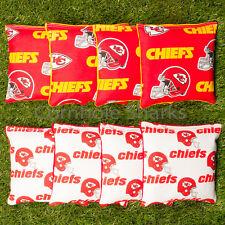 Cornhole Bean Bags Set of 8 ACA Regulation Bags Kansas City Chiefs Free Shipping