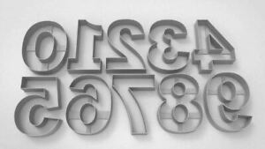 Giant Numbers Large 0 to 9 Cookie Cutter Dough Biscuit Pastry Fondant