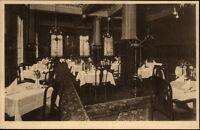 Hannover Postkarte ~1920/30 Weinhaus Pust Rathenauplatz Innenansicht Speisesaal