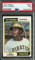 1974 Topps #252 Dave Parker Rookie! PSA 7 NM
