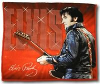 "New Elvis Presley 68 Red 24"" Kitchen Dish Towel The King Guitar Photo NIP NWT"