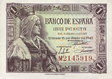 Spanien / Spain 1 Peseta 1945 Pick 128 (1)