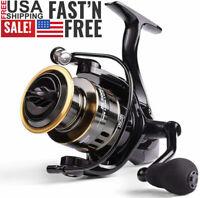 Fishing Reel Max Drag 10kg 5.2:1 High Speed Metal Spool Spinning Reel HE7000
