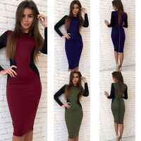 Womens OL Office Formal Wear To Work Business Evening Party Career Dress Bodycon